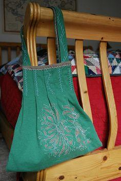 Alabama Stitch swap bag made for stitchchick by hello miss.quito, via Flickr