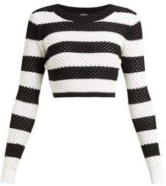 Dodo Bar Or Margaret Striped Cotton Top - Womens - Black White Cute Fashion, Modest Fashion, Trendy Fashion, Womens Fashion, Fashion Vintage, Fashion Art, Style Fashion, Mode Outfits, Stylish Outfits