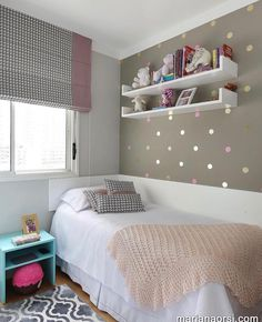 With the touch of a leading interior developer Planning as well as decoration a small bedroom can be performed in mins, for instances ideas with Storage, Design, For Girls or Young boy. Girl Bedroom Designs, Room Ideas Bedroom, Small Room Bedroom, Home Bedroom, Diy Bedroom Decor, Home Decor, Girls Bedroom, Small Bedroom Ideas For Girls, Bedroom Wall