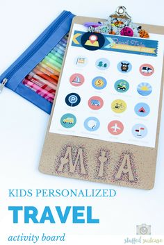 Personalized Kids Activity Board by Stuffed Suitcase for iheartnaptime.net