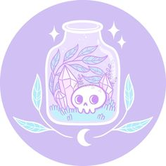 Shop Pastel Terrarium pastel goth stickers designed by Nikury as well as other pastel goth merchandise at TeePublic. Art Goth, Pastel Goth Art, Kawaii Drawings, Cute Drawings, Image Bougie, Gothic Kunst, Witch Wallpaper, Art Kawaii, Art Mignon