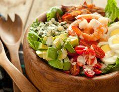 Summer Shrimp Cobb Salad - props