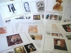 FREE downloadable pdf's about Famous Artists (wall charts, biog., lapbooks)!