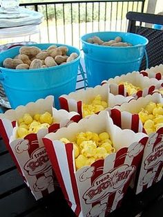 Circus Party Food..Rent a popcorn machine at http://www.astrojump.com/nwatlanta.htm