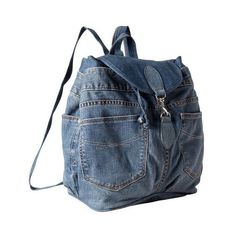 Gap Recycled 1969 Denim Backpack ($90) ❤ liked on Polyvore