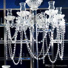 6.8Feet Glass Crystal Prisms 14mm Octagon Chandelier Chain ...