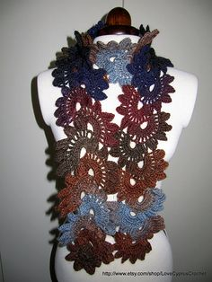 """Pretty Lady"" Crochet Scarf Pattern pattern by Lyubava Crochet"