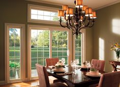 Classic Dining Room - Pella® 350 Series Sliding Patio Doors | Pella Photo Gallery