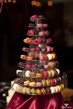 Piramidă de macarons.