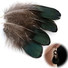 Zadaro 50Pcs Beautiful Natural Pheasant Feathers for Crafting Sewing Costume Millinery DIY (Green) * Want to know more, click on the image.