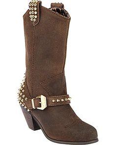 Betsey JOhnson studded boots!!!Love it- nice small heel
