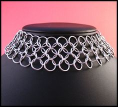 Easiest Project! I could do this right now.  Anyone want a chainmail choker? chainmail choker, chain maill, chainmaill tutori