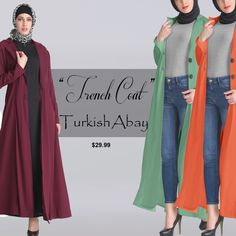 Trench Coat Turkish Abaya Dress - Islamic Clothing #abaya #hijab #tunic #kaftan #skirts #kurti #eiddress #salwarsuit #salwarkameez #shrug #duster #shopping #shopmycloset #muslimah #muslim #clothing #fashion #fashionillustration #fashionblogging #black abaya,