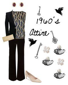 """1960's Dress Attire | Style Through the Decades."" by campanellinoo on Polyvore featuring Emilio Pucci, Delman, Balmain, HOBO and vintage"