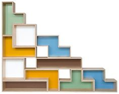 Hubby and I plan on creating tetris shelves for our library We