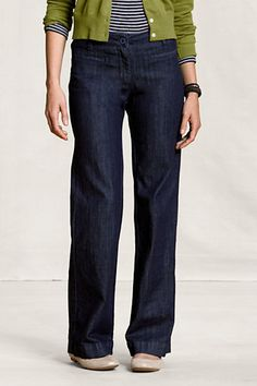 Love these trouser jeans!  Only $29.97 at Land's End