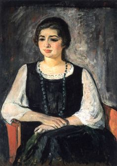 Nono in a Green Necklace - Henri Lebasque - circa 1923