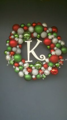 Made this wreath for Christmas