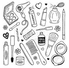 Beauty Doodles royalty-free stock vector art