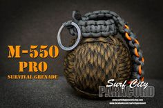 M-550 Pro Paracord Survival Grenade (with integrated survival kit)