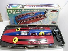 MERCURY CHAMPIONSHIP RACE BOAT WITH MERCURY OUTBOARD MOTOR GOOD COND WITH BOX