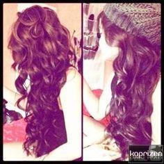 Waves. Curls. Long. Hair. Brunette.