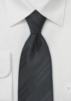 Modern tonal black striped tie