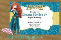 Disney Brave Birthday Party Invitations by RayningGrace on Etsy