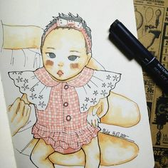 :) #mekaworks #drawing #baby