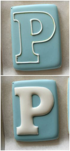 How to do a perfect monogram letter on a cookie