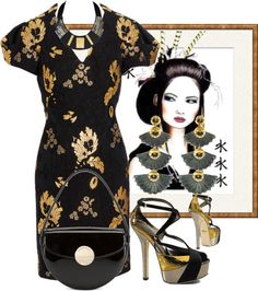 """Alexander McQueen Dress"" by fashionmonkey1 on Polyvore"