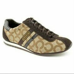 NWT! COACH Sneakers Brown coach sneakers. Brand new, never worn! In original box. Perfect for all seasons. Coach Shoes Sneakers