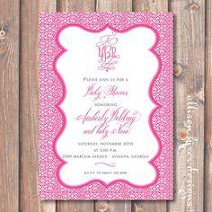 Pretty in Pink Printable Baby Shower by AllisonKizerDesigns, $15.00