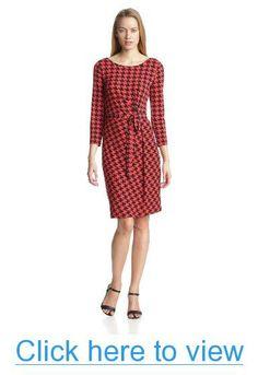 Anne Klein Women's Houndstooth Print Wrap Dress #Anne #Klein #Womens #Houndstooth #Print #Wrap #Dress
