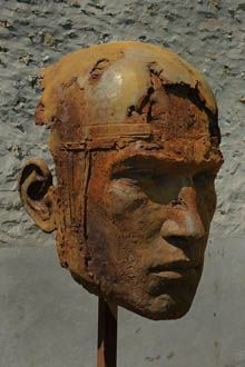 Persée I  Christophe Charbonnel.  Monumental head of Perseus, 2012  230 x 130 x 90 cm