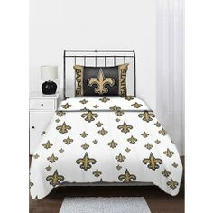Northwest New Orleans Saints NFL Twin Sheet Set NOR-1NFL820001021WMT by Northwest. $34.49. Brand New. Accessorize your room and show your spirit by jazzing up your bed ensemble with the twin sheet set by Northwest. Includes one flat sheet, one fitted sheet, and one team color pollowcase.. Save 23%!