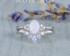 HANDMADE RINGS & BRIDAL SETS by MoissaniteRings on Etsy Bridal Ring Sets, Handmade Rings, Moonstone Ring, Wedding Bands, Opal, Silver Rings, Unique Jewelry, Engagement Rings, Gifts