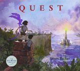 No words in these books, but the illustrations more than make up for it.  Both of my kids loved flipping through them multiple times.  The story begins with a girl, whose crayon and imagination take her to a foreign land where she saves a beautiful bird and meets a friend.  The second book, Quest, continues her story with her friend as they save the kingdom.  SO good.
