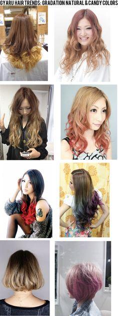 Gyaru hair color trends (2012)
