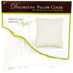 """Cuddle up with a touch of simple charm with this soft and smooth White Short Fleece Pillow Cover. Featuring a frayed-edge fleece design on the front, this darling pillow cover is essential for your bedroom, guest room, living room, bay windows, and more.    Dimensions:      Length: 16""""    Width: 16""""      Use with 16"""" x 16"""" pillow form (sold separately).    100% Polyester."""