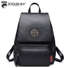 104.72$  Buy here - http://ali47f.worldwells.pw/go.php?t=32770260949 - women Genuine Leather ladies backpack 2017 Autumn intervew solid color shool leather bagpack leisure bag women backpack#YL-3693  104.72$