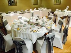 Wedding table set up function suite Grampian hotel