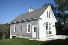 c 1853 Italianate in Westport, MA. Carriage House Garage, Barns, Home And Family, Garage Doors, Shed, Cozy, Outdoor Structures, Country, Building