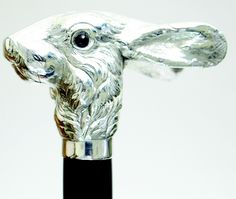 STERLING SILVER RABBIT DRESS CANE BY SWAINE ADENEY BRIGG LTD cool pattern for a pipe