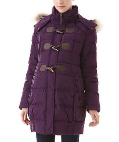 Look what I found on #zulily! Amethyst Mitzi Maternity Puffer Coat by MOMO Maternity #zulilyfinds