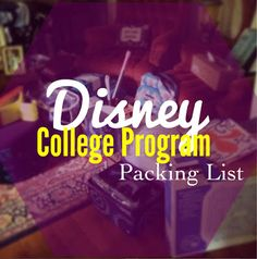 Disney RAISED: Disney DCP Packing List Disney college program packing list. This is what I am taking!