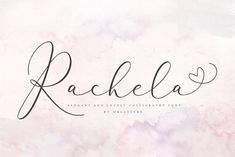 Buy Rachela Calligraphy Font by mrletters on GraphicRiver. Introducing Rachela Script A new and beautiful font, created to meet your needs in creating a beautiful and elegant d. Script Writing Fonts, Handwritten Fonts, Calligraphy Fonts, Modern Calligraphy, Bold Fonts, New Fonts, Funky Fonts, Wedding Fonts, Wedding Invitations