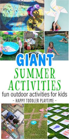 Looking ways to keep kids busy this summer? Check out this list of GIANT summer activities! From GIANT water blobs, to GIANT bubbles & more!! Summer Art Activities, Outdoor Activities For Kids, Kids Learning Activities, Nature Activities, Outdoor Games, Outdoor Play, Teaching Resources, Teaching Ideas, Outdoor Fun For Kids