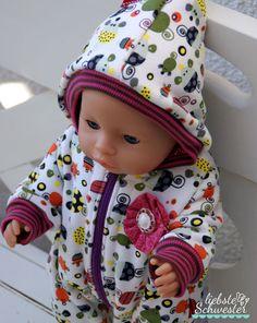 liebste schwester: Puppenkleidung Overall und Shirt
