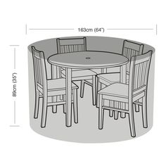 Dining sets are great for your garden – creating a relaxing outdoor space for al fresco dining on balmy summer evenings. But keeping your dining set looking smart when the weather changes can be a real problem. Cast Aluminum Patio Furniture, Metal Garden Furniture, Outdoor Furniture Covers, Round Table Covers, Round Table And Chairs, Tables, Reclining Sun Lounger, Circular Patio, Set Cover